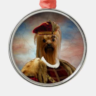 Prydnad för ung hertig för Yorkshire Terrier Julgransprydnad Metall