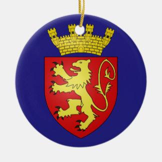 Prydnad för Valletta* Malta vapensköldjul Julgransprydnad Keramik