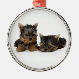 Prydnad för valpar för Yorkshire Terrier högvärdig Julgransprydnad Metall