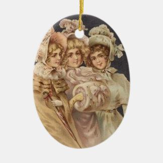 Prydnad för vintageCarolersjul Julgranskulor