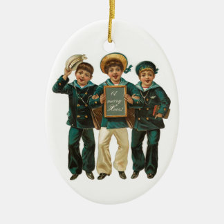 prydnad för vintagepojkejul jul dekorationer