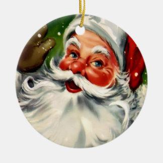 Prydnad för vintageSanta jul Julgransprydnad Keramik