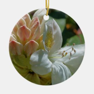 Prydnad för vitAzaleablomma Julgransprydnad Keramik