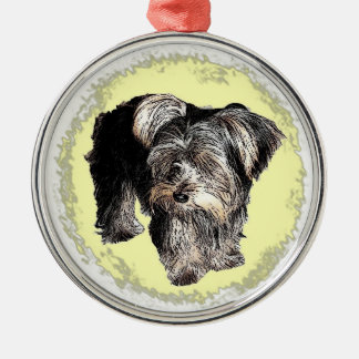 Prydnad för Yorkshire Terrier Julgransprydnad Metall