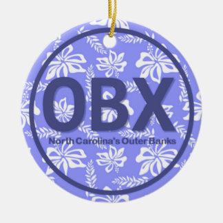 Prydnad för yttre banker för personlig OBX blom- Julgransprydnad Keramik