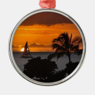 Prydnad - hawaiansk solnedgång julgransprydnad metall
