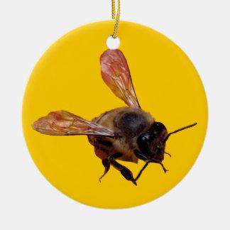 Prydnad - Honeybee Rund Julgransprydnad I Keramik