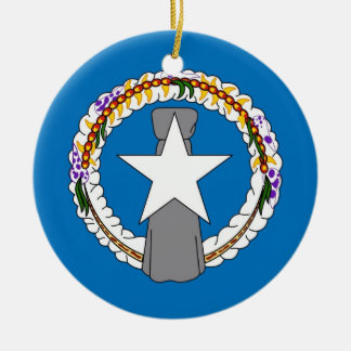 Prydnad med flagga av Northern Mariana Islands Julgransdekoration