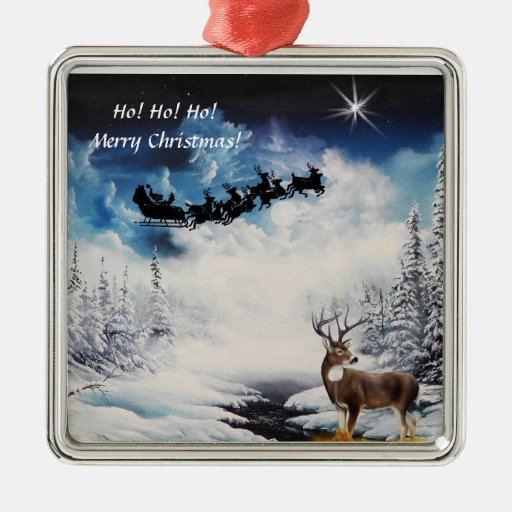 Prydnad med santa ren- och bockvinter julgranskula