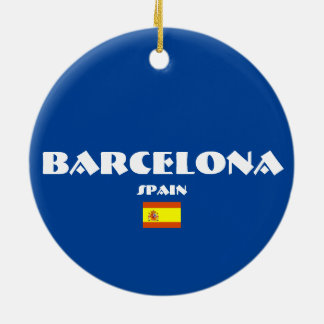 Prydnadar för jul för Barcelona fotboll ovala Julgransprydnad Keramik