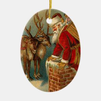 Prydnadar för vintageSanta jul Jul Dekorationer