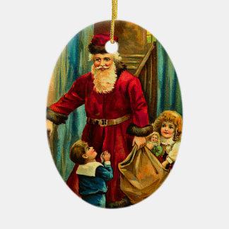Prydnadar för vintageSanta jul Julgransdekorationer