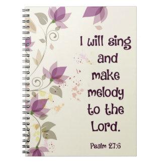 Psalm27:6 ska gör jag sjunga och melodi till anteckningsbok