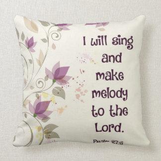 Psalm27:6 ska gör jag sjunga och melodi till kudde