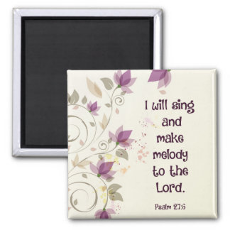 Psalm27:6 ska gör jag sjunga och melodi till magnet