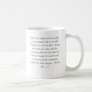 Psalm46:1 - 3 på en mugg