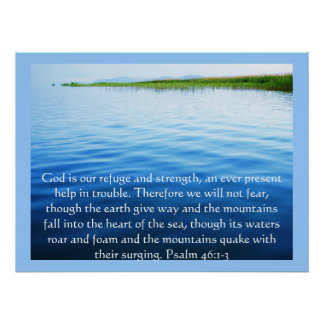 Psalm46:1 - gud 3 är vår fristad- och poster