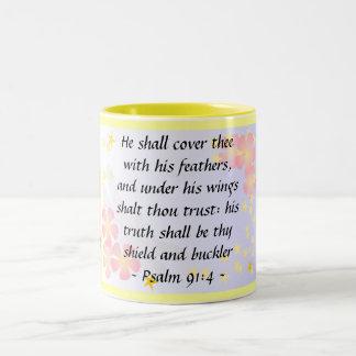 Psalm91:4mugg Två-Tonad Mugg