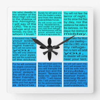 Psalm 91 kvadrerar väggen tar tid på fyrkantig klocka