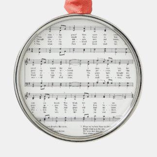 Psalm - förbluffa nåd julgransprydnad metall