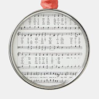 Psalm - nolla-kom all trogen Ye Julgransprydnad Metall