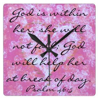 Psalmscriptureguden är inom som henne, tar tid på  fyrkantig klocka