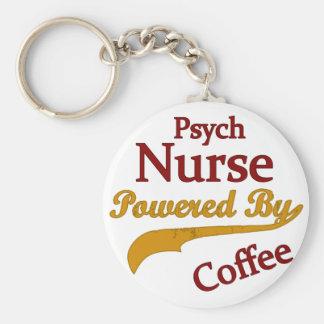 Psych Norse som drivas av kaffe Rund Nyckelring