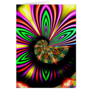 Psychedelic abstrakt anpassadeGreeeting kort