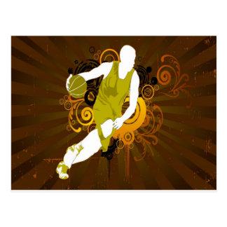 psychedelic abstrakt basket vykort
