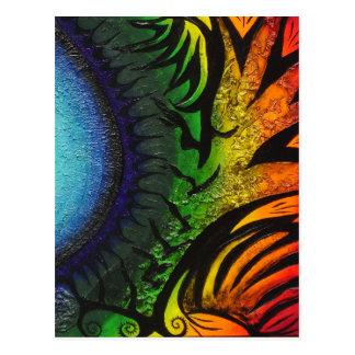 psychedelic abstrakt målning vykort