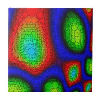 Psychedelic abstrakt unikt kakelplatta