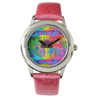 psychedelic armbandsur för groovy 70-tal