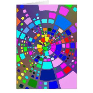Psychedelic belagd med tegel mosaik hälsningskort