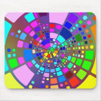 Psychedelic belagd med tegel mosaik musmatta