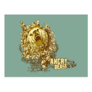 psychedelic björnargbeast vykort