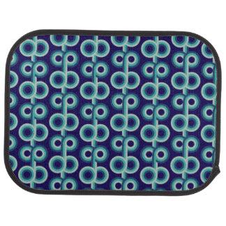 Psychedelic blått cirklar bilmatta