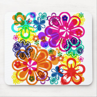 Psychedelic blomma MousePad Musmatta