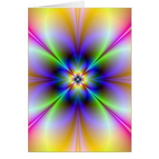 Psychedelic blommakort hälsningskort
