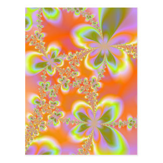 Psychedelic blommavykort vykort