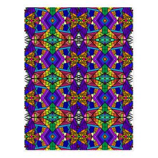 Psychedelic-Blue-Pattern-1 Vykort