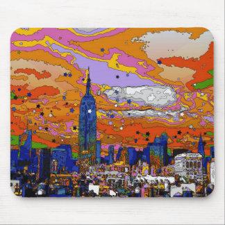 Psychedelic bygga & horisont A1 för NYC-empire Musmatta