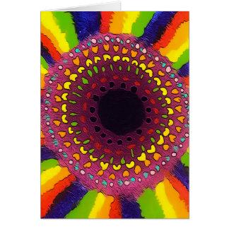 Psychedelic Chakras hälsningkort Hälsningskort