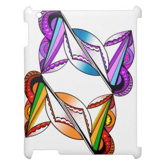 Psychedelic design på fodral för vit för Apple iPad Skal
