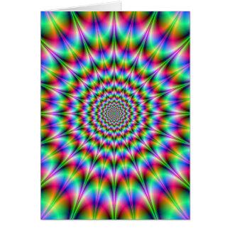 Psychedelic explosionkort hälsningskort