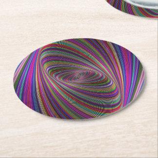 Psychedelic färger underlägg papper rund