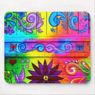 psychedelic färgmousepad för hippie musmatta