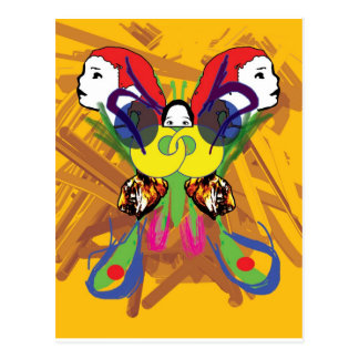 Psychedelic fjäril vykort