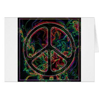 psychedelic fredstecken hälsningskort