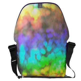 Psychedelic glitter messenger bag