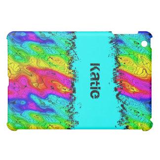 Psychedelic Groovy Retro täcker färgrik grunge 2 iPad Mini Skydd